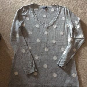 Gap Maternity V-Neck Polka Dot Wool Sweater Large